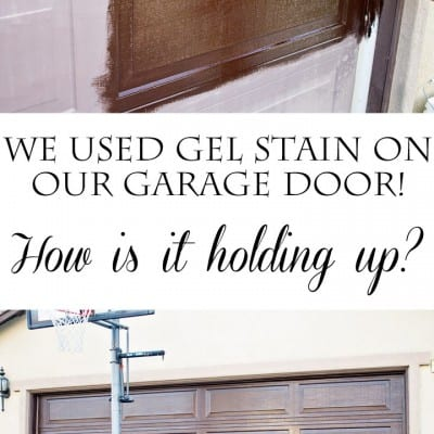 Stain archives domestically speaking for How to stain a garage door