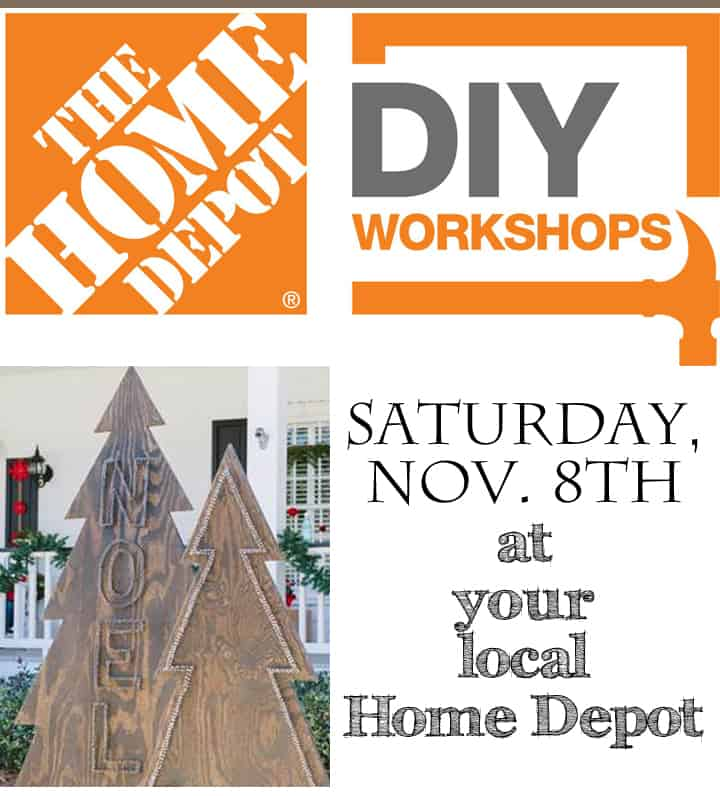 The Home Depot Holiday DIY Workshop… Come Join Us!