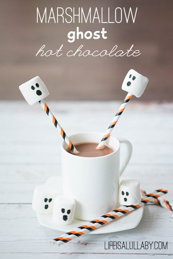 Marshmallow-Ghost-Hot-Chocolate-for-Halloween from Life is Lullaby