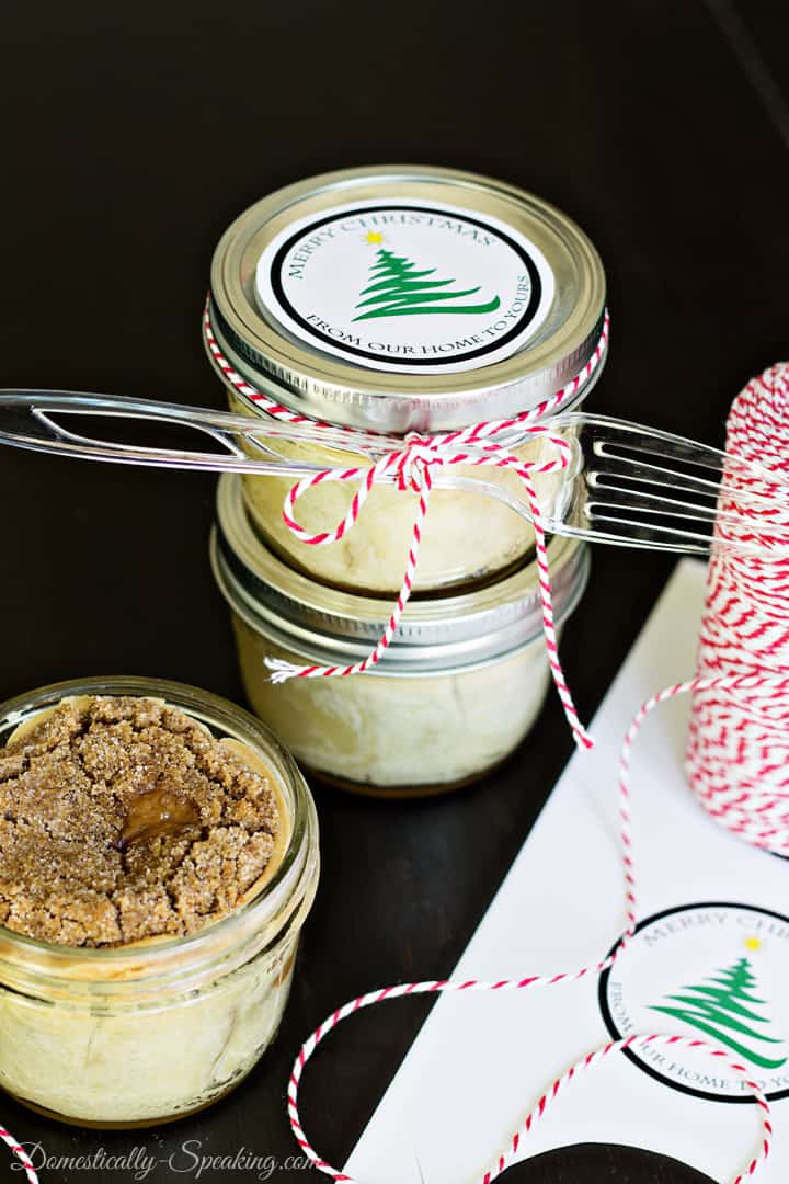 Mason Jar Cinnamon Crumble Apple Pie 1
