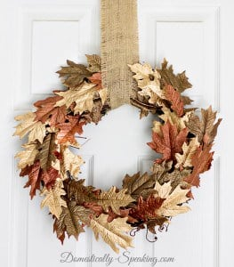 Metallic Brown and Gold Leaf Wreath 2