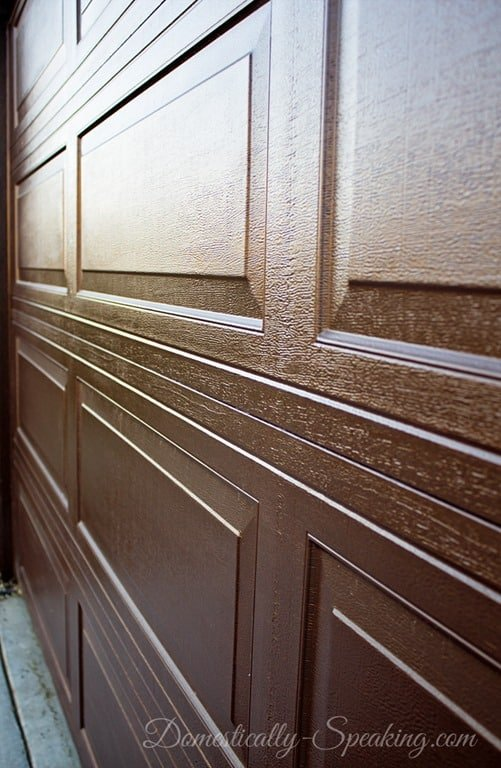 Stain garage door fix lovely how to stain your garage for Stained garage doors