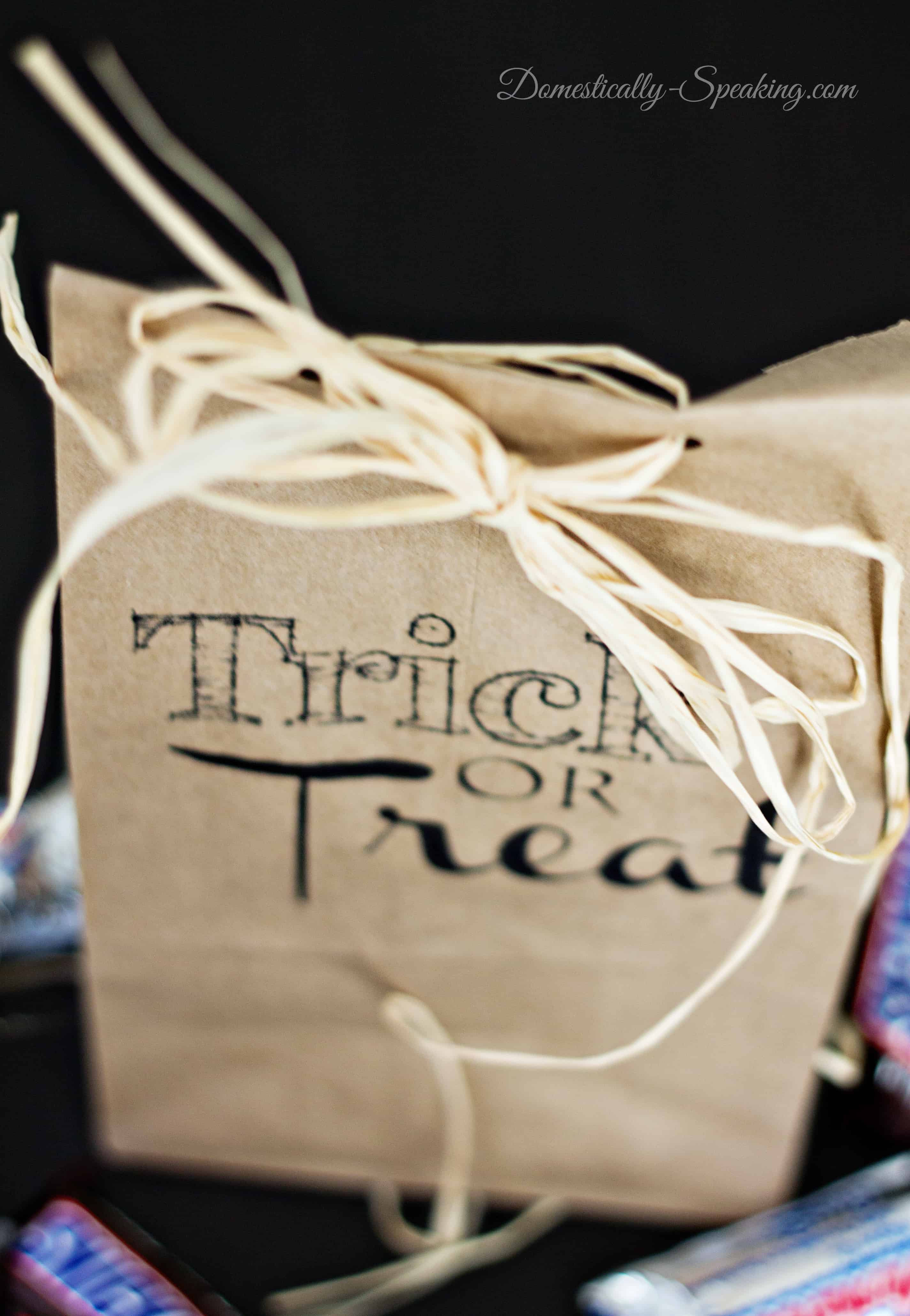 Trick or Treat Brown Paper Bag Printable 3