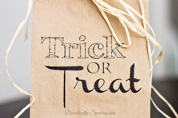 Trick or Treat Brown Paper Bag Printable 4