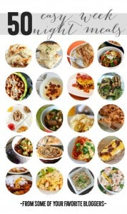 easy weeknight meals collage