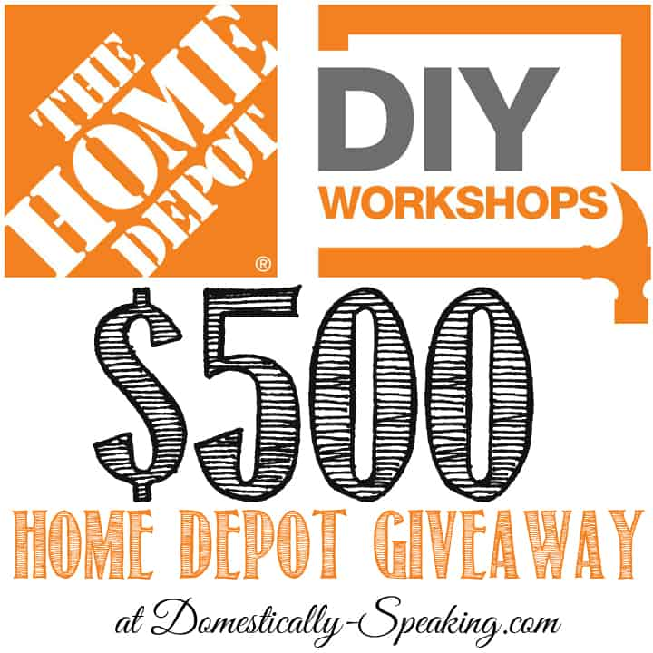 $500 Home Depot Giveaway