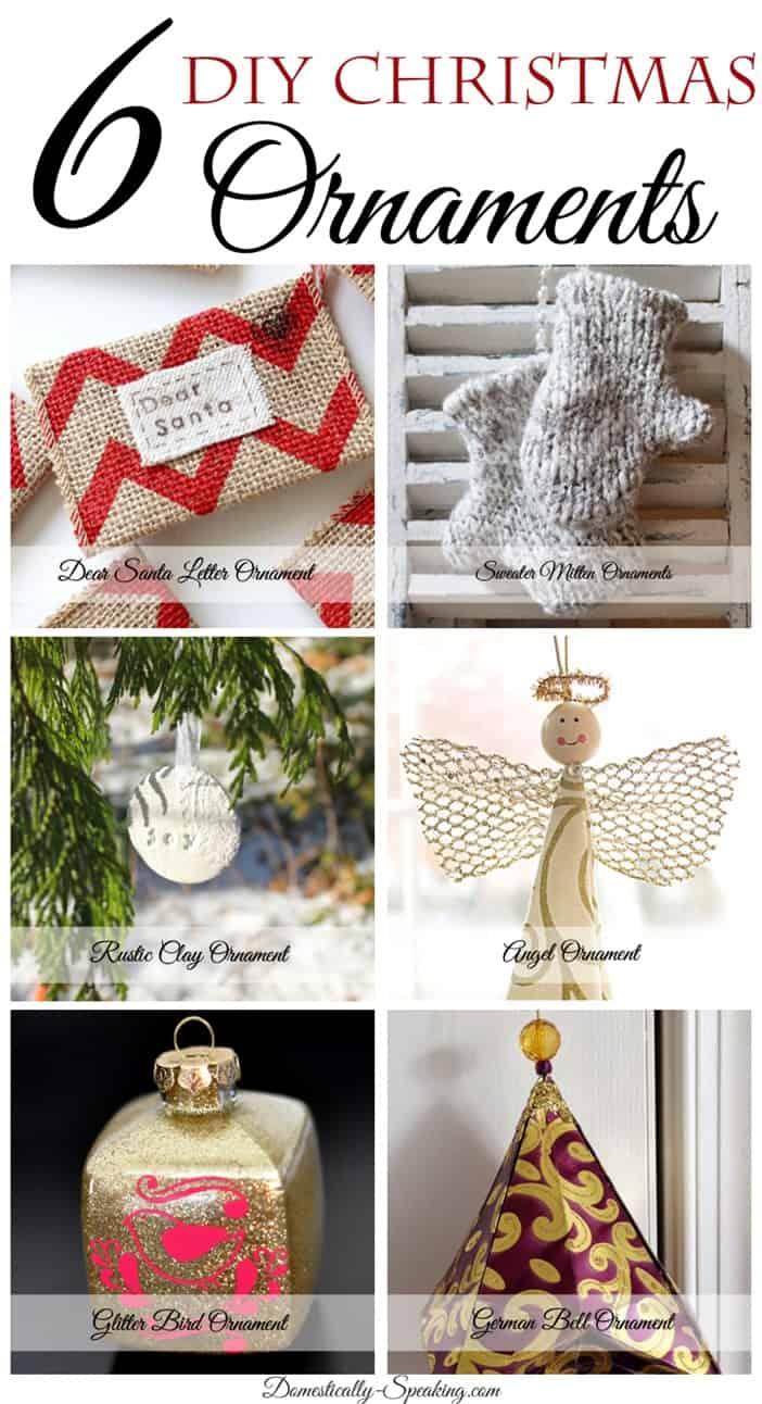 6 DIY Christmas Ornaments
