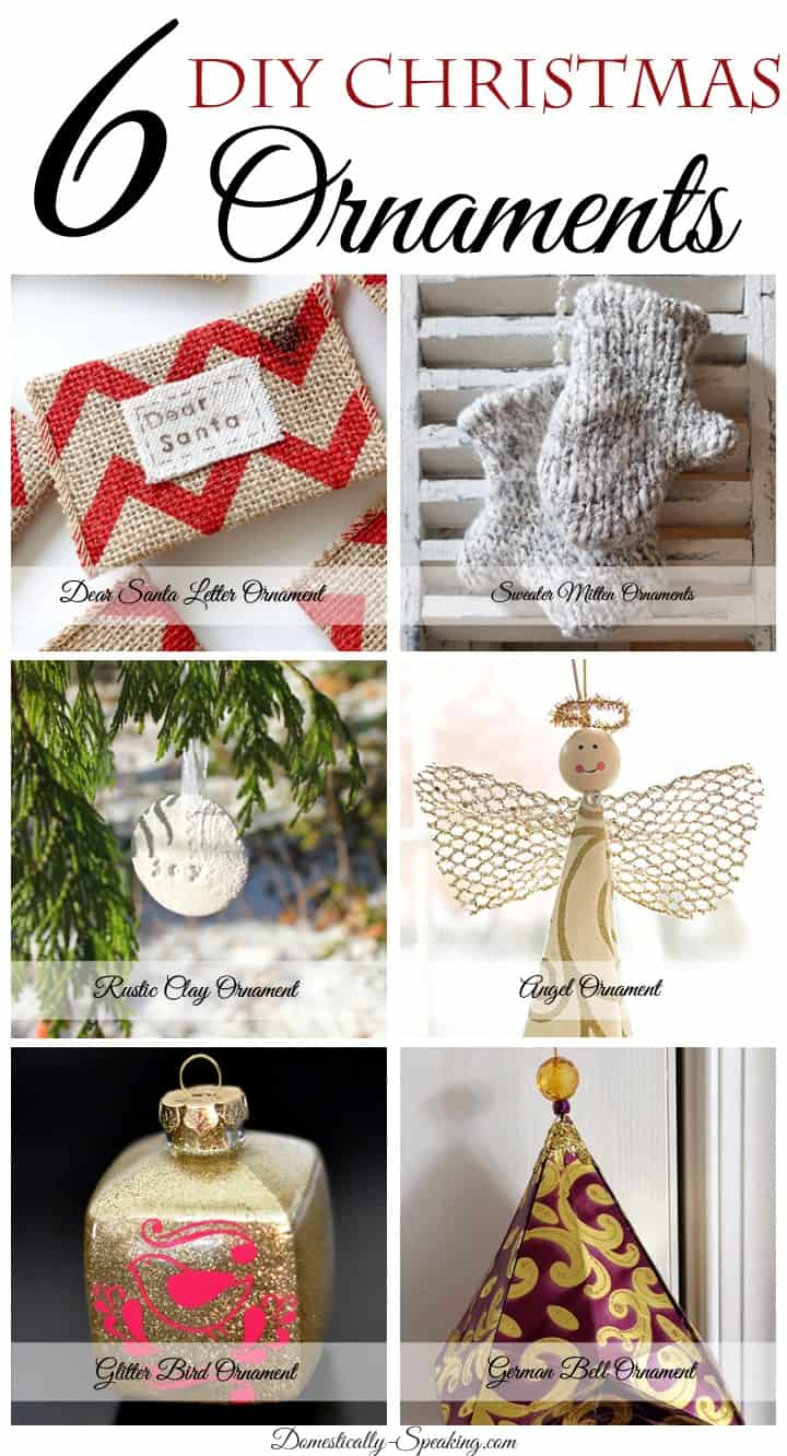 6 DIY Christmas Ornaments
