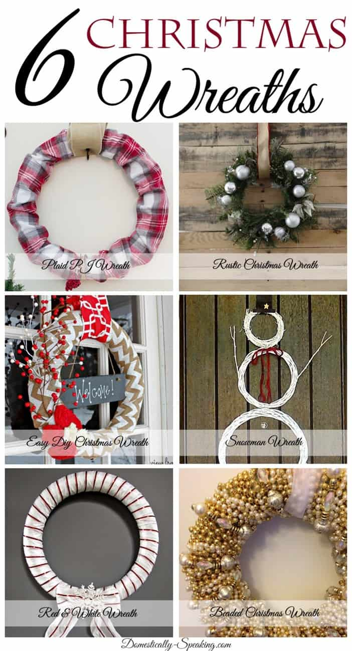 6 DIY Christmas Wreaths you can make!