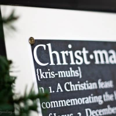 Chalkboard Christmas Defined Printable