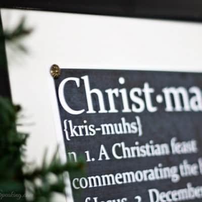 Chalkboard Christmas Defined Printable