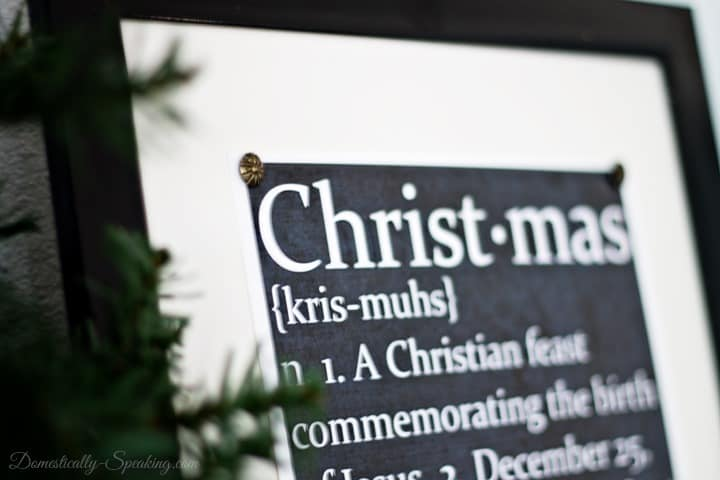 Chalkboard Christmas Defined Printable - It's FREE and it makes a great gift!