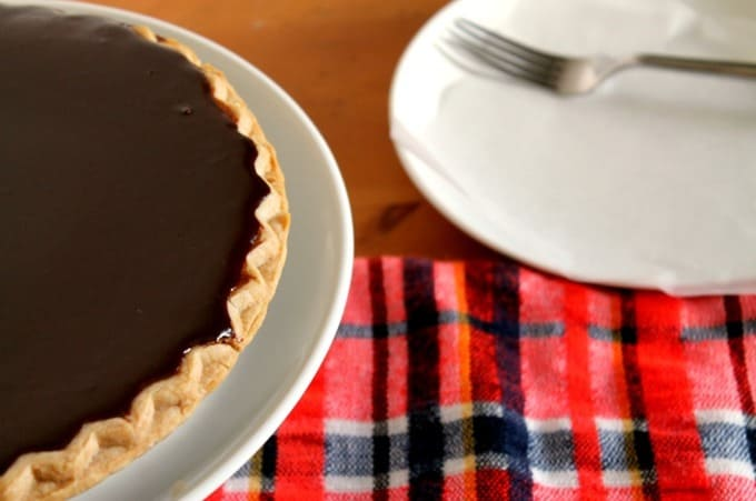 Chocolate Ganache Pumpkin Pie from Fry Sauce and Grits