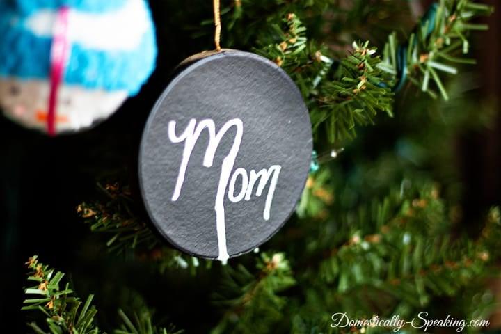 DIY Chalkboard Christmas Ornament 2