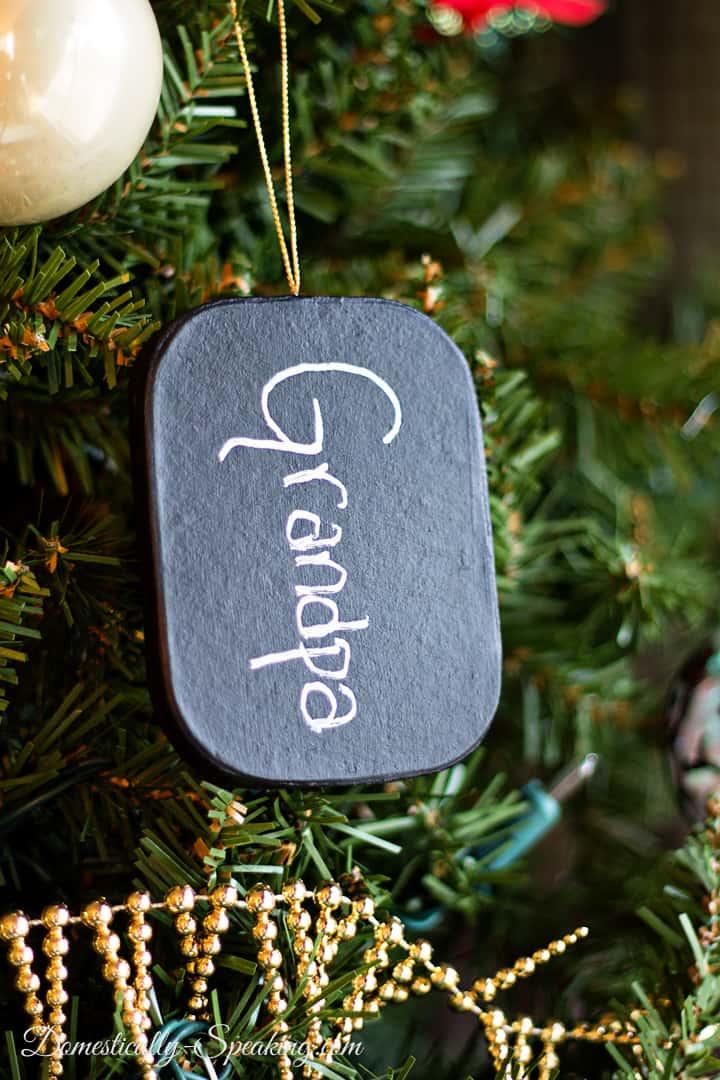 DIY Chalkboard Christmas Ornament 3