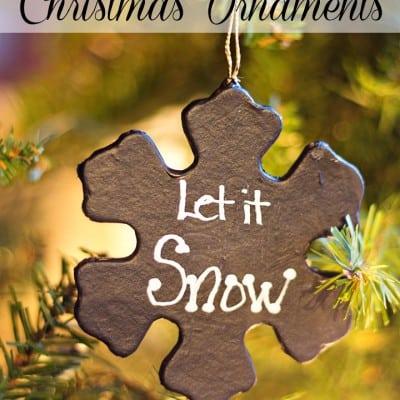 DIY Chalkboard Christmas Ornaments