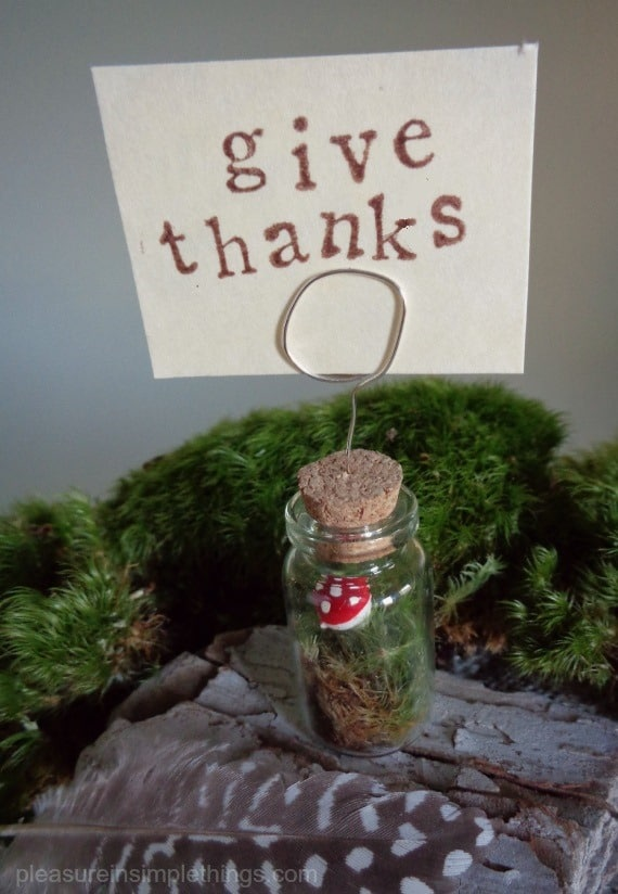 DIY Thanksgiving Place Card Holder from Pleasure in Simple Things