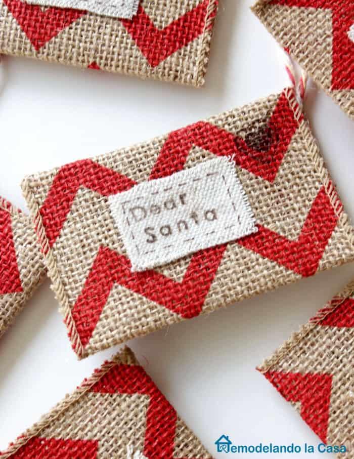 Dear Santa Letter Ornament from Remodelando la Casa