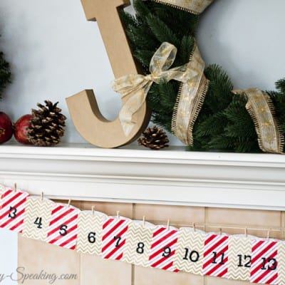 Easy Gift Bag Advent Calendar