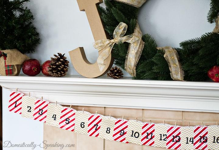 Easy Gift Bag Advent Calendar