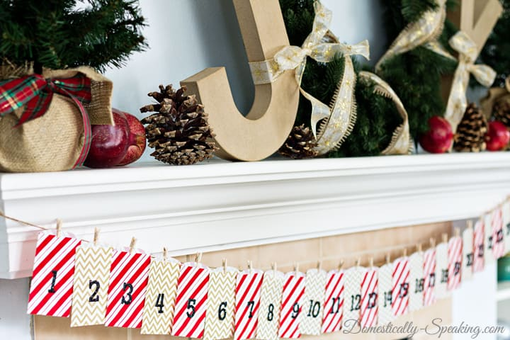 Quick and Easy Advent Calendar using gift bags and stickers