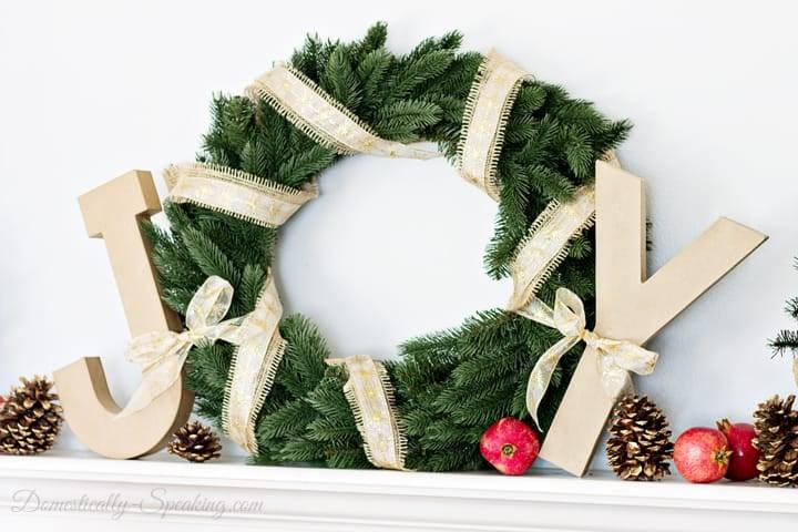 Joyful Christmas Mantel 1