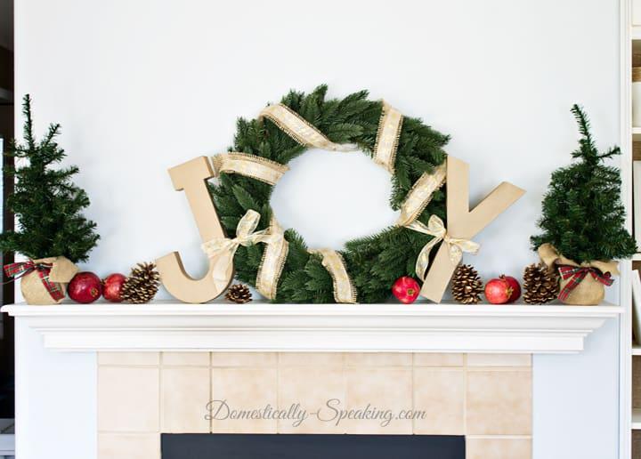Joyful Christmas Mantel