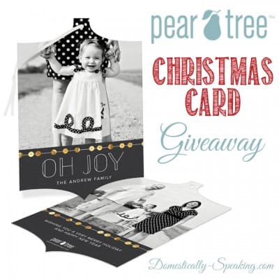 Pear Tree Greetings… Christmas Card Giveaway