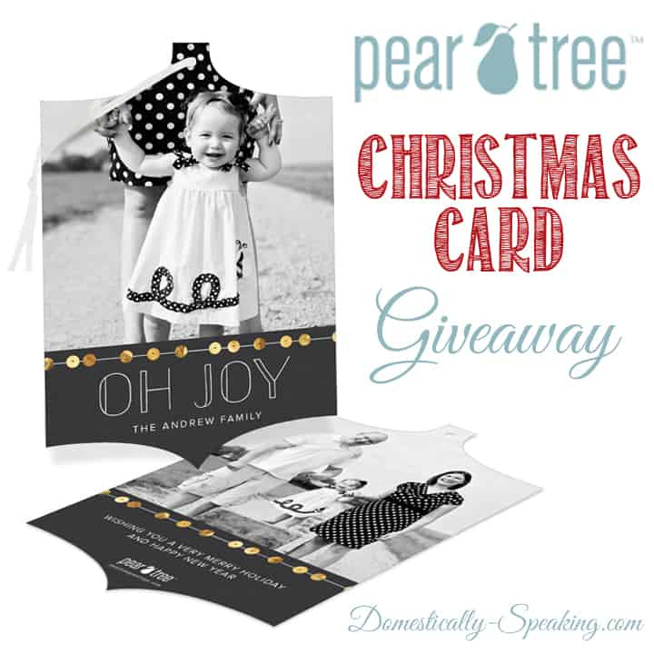 Pear Tree Greeting Giveaway