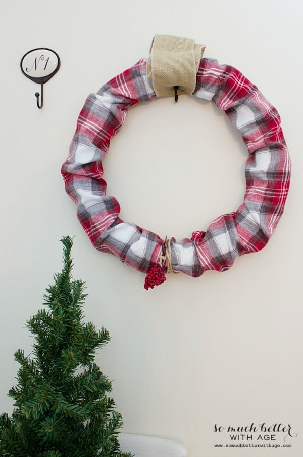 Plaid PJ Wreath from So Much Better with Age