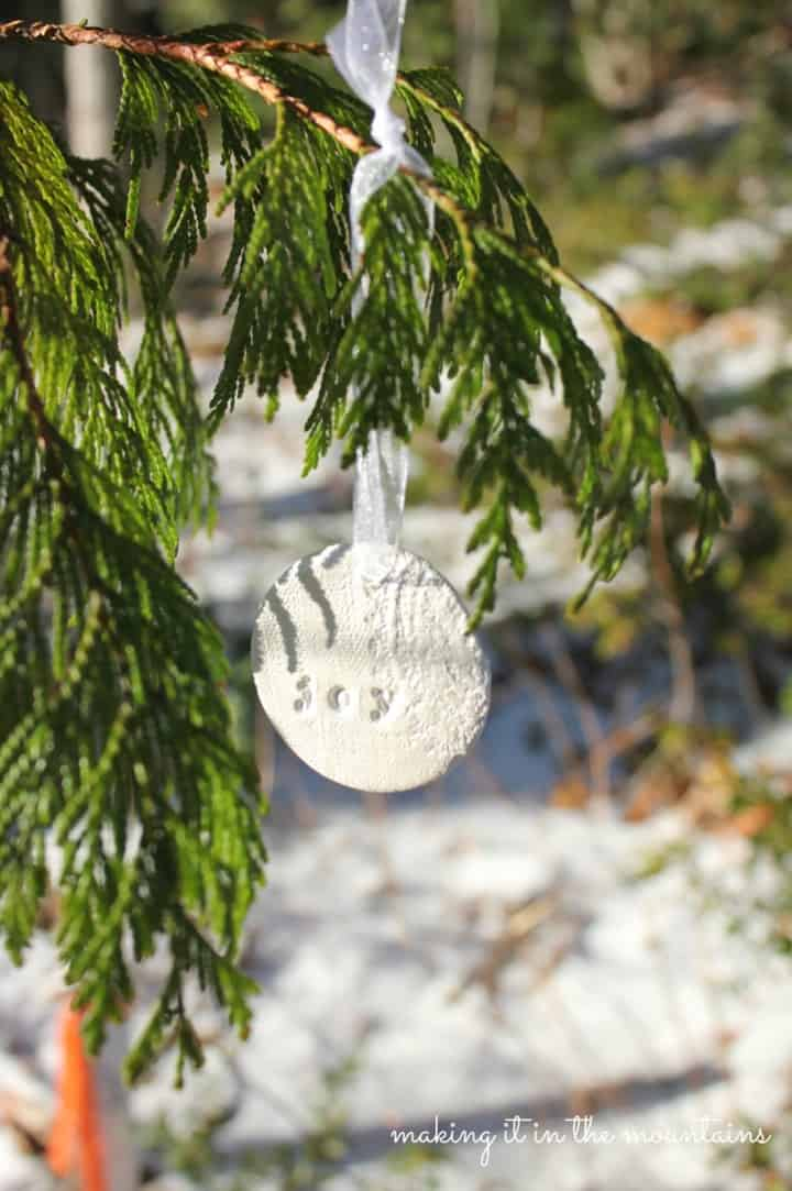 Rustic Clay Christmas Ornament from Making it in the Mountains