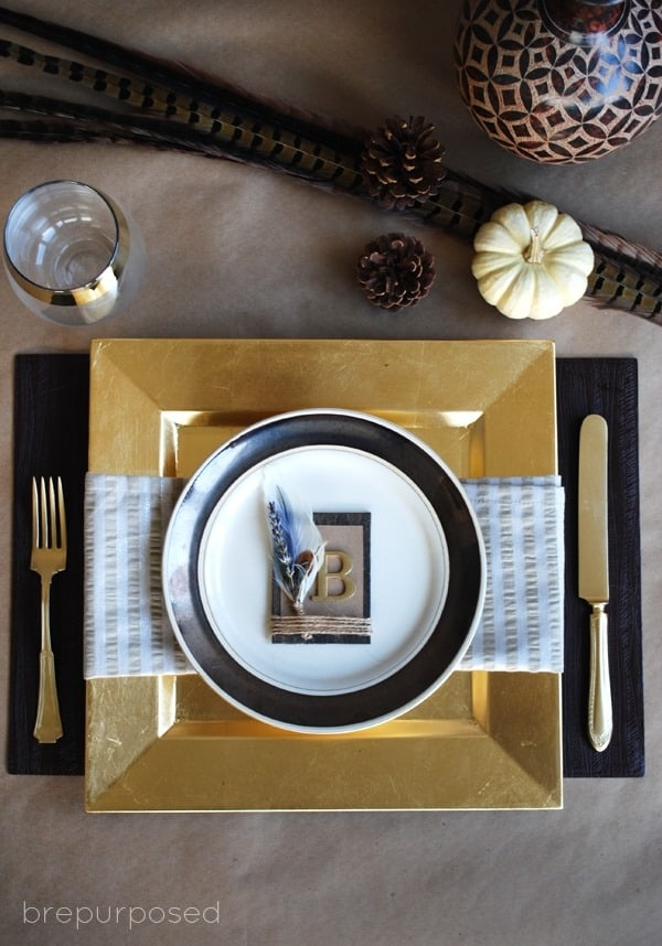 Rustic Thanksgiving Place Setting from Brepurposed