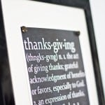 Thanksgiving Defined Chalkboard Printable
