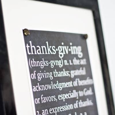 Thanksgiving Defined Chalkboard Printable