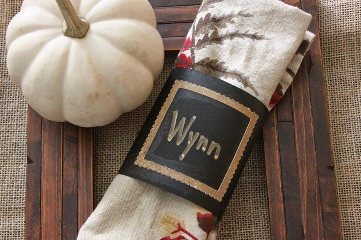 Thanksgiving Place Card Napkin Wraps from Our Pinteresting Family