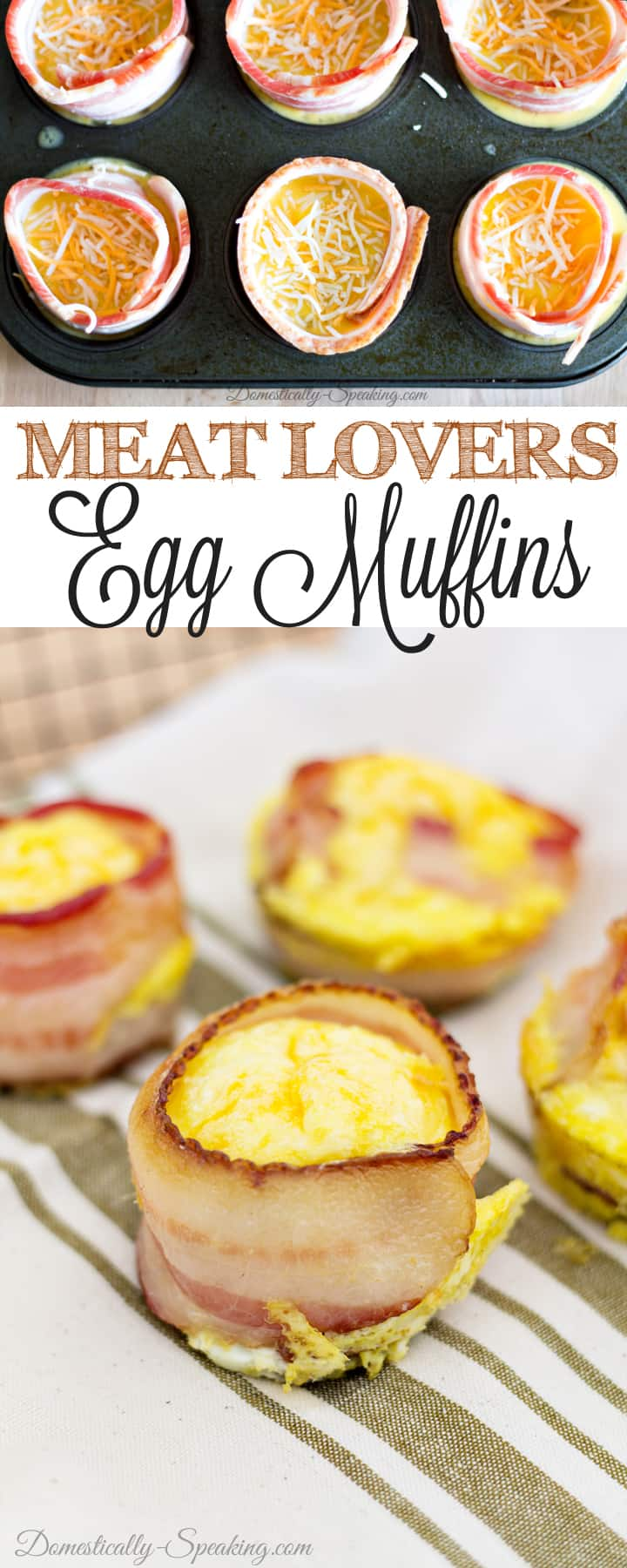 Ultimate Meat Lovers Egg Muffins - low carb, freezes great