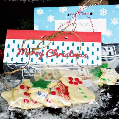 Almond Cream Cheese Sugar Cookie and Free Baggie Topper Printable