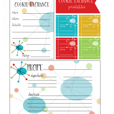 Cookie Swap: Retro Style Printables