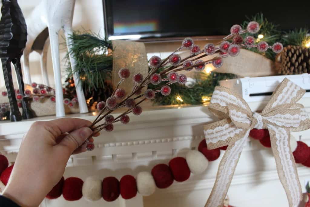 DIY Christmas Mantel - how to pull it all together