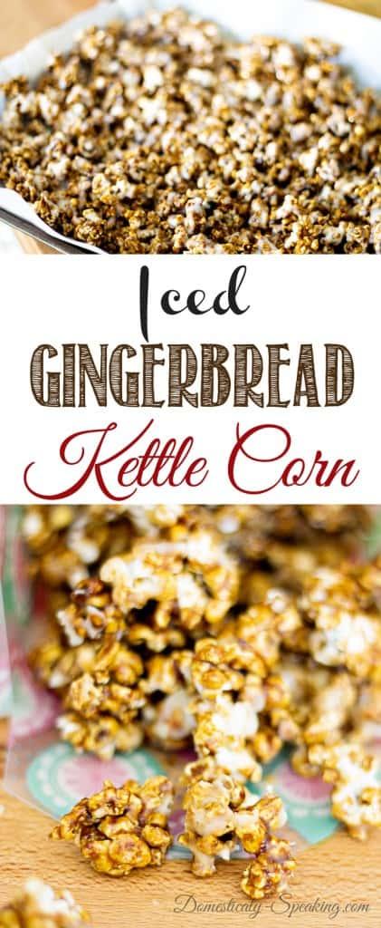 Iced Gingerbread Kettle Corn