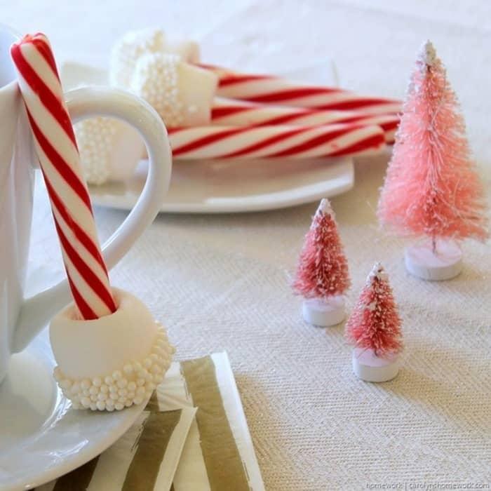 Marshmallow & Peppermint Stir Sticks via homework