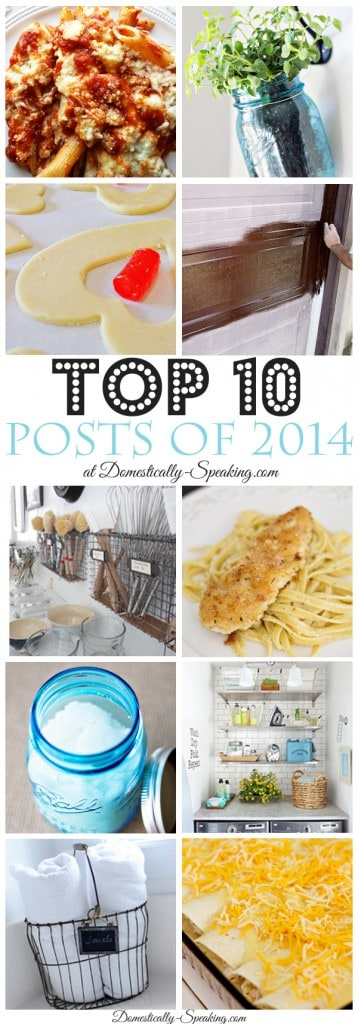 Top Ten Posts of 2014 at Domestically Speaking