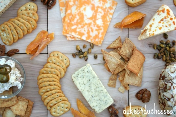 a-rustic-cheese-platter from Dukes and Duchesses