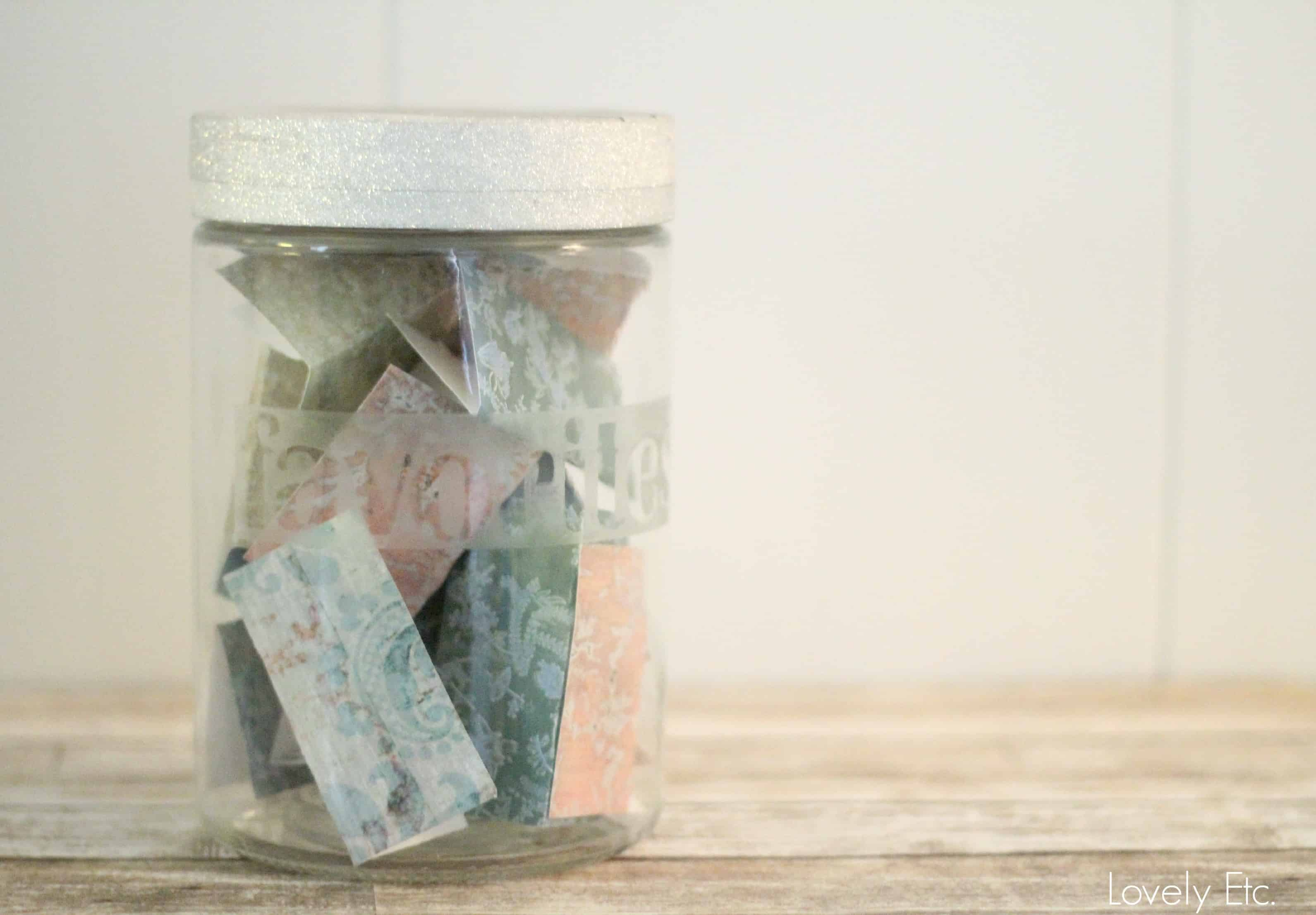 Etched Glass Memory Jar