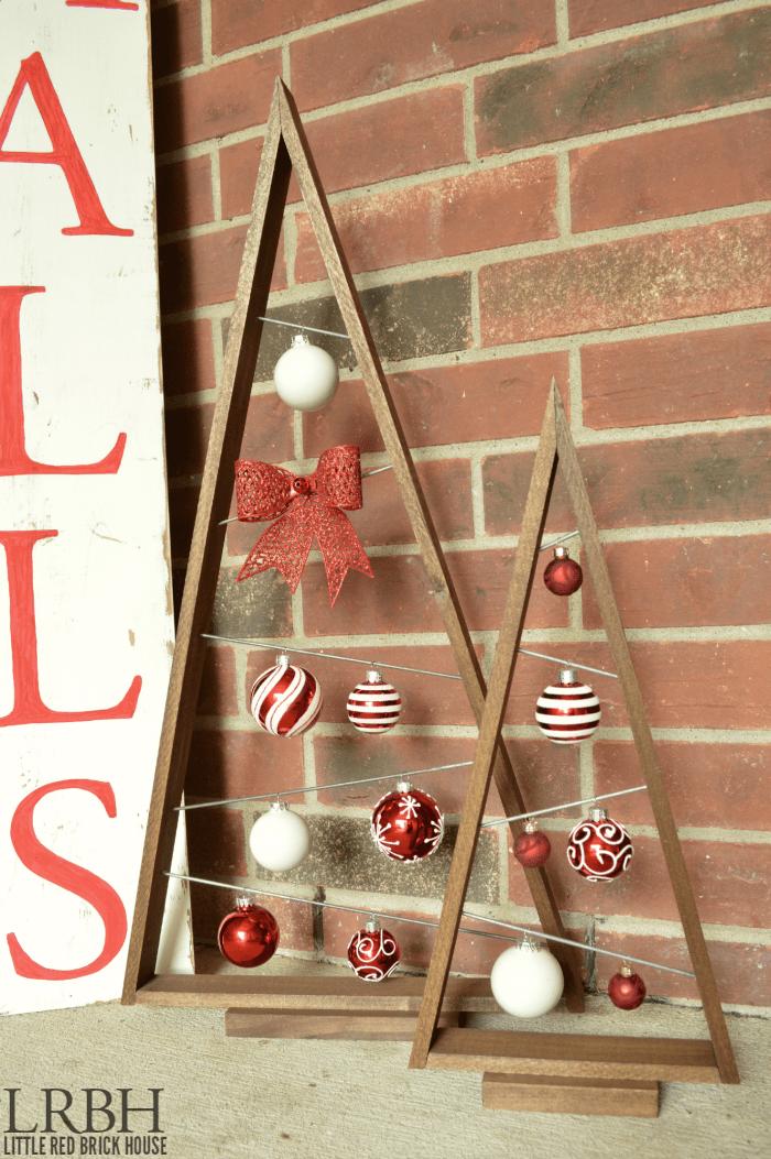 Knock-off Crate & Barrel Ornament Trees