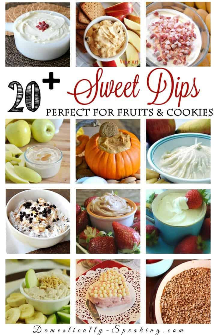 20  Sweet Dips perfect for Fruits and Cookies