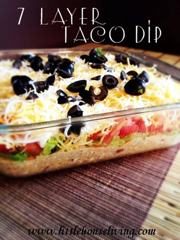 7 Layer Taco Dip from Little House Living