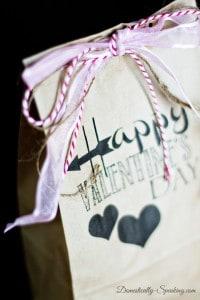 Brown Bag Valentine Gift Printable 2