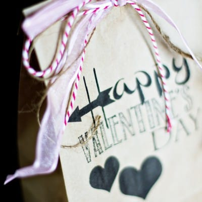 Brown Bag Valentine Gift Printable