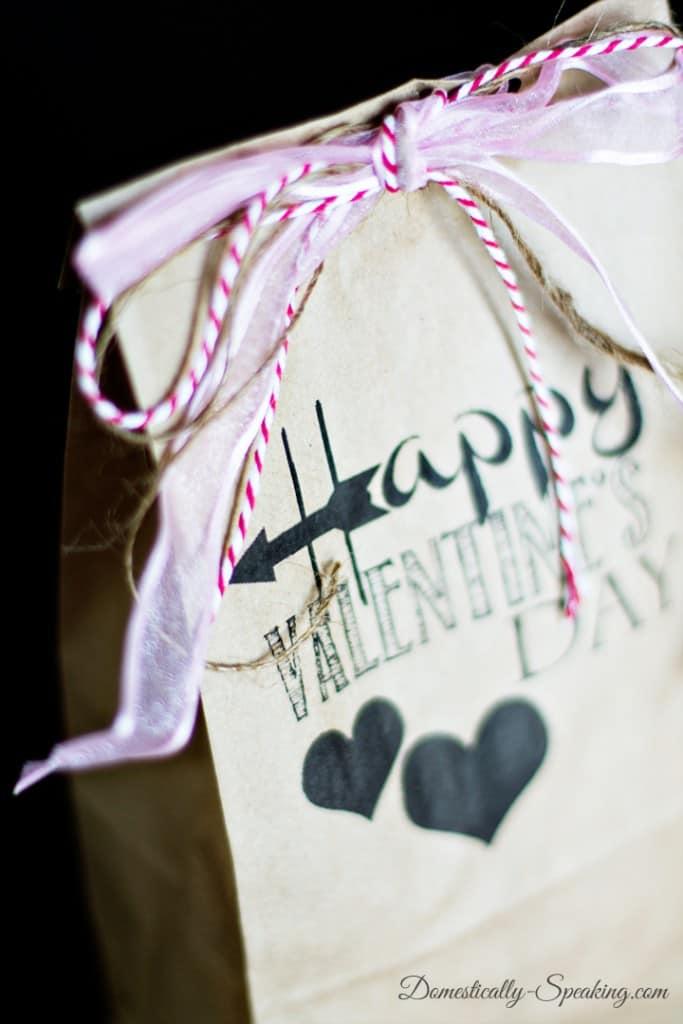 DIY Brown Bag Valentine Gift Printable